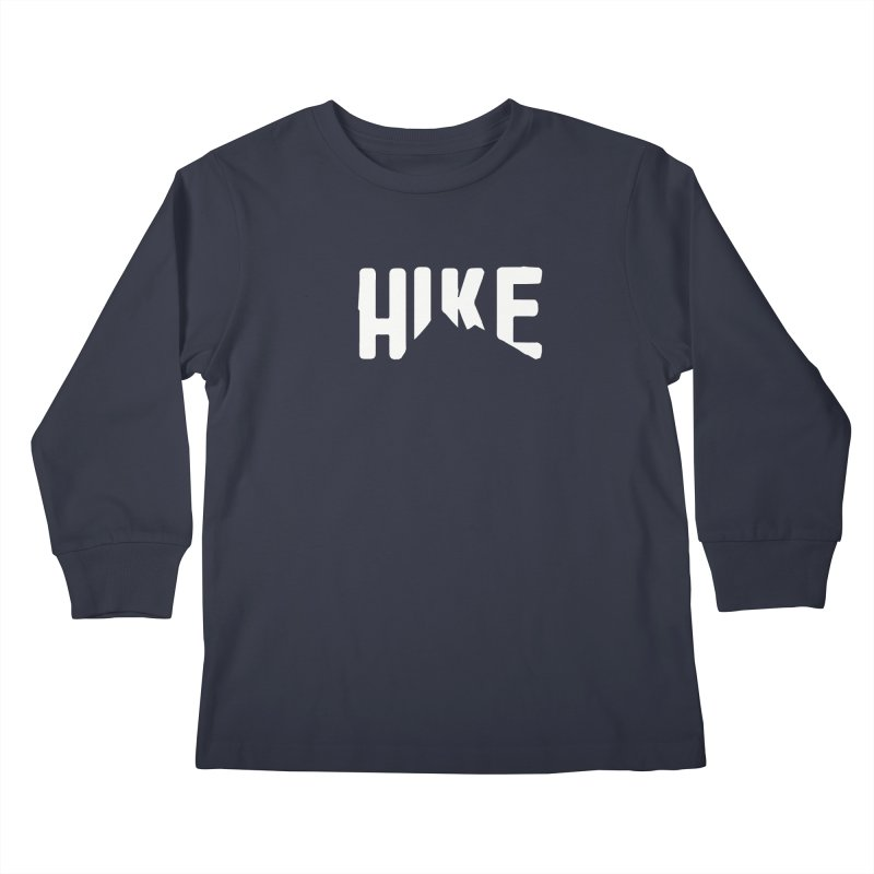 Hike Mountains Kids Longsleeve T-Shirt by eleven
