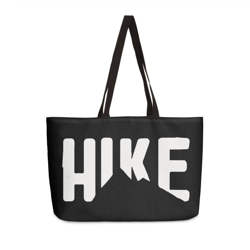 Hike Mountains Accessories Weekender Bag Bag by eleven