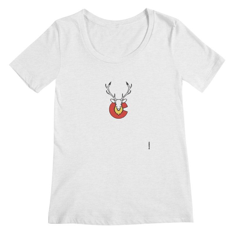 Deer Colorado Women's Regular Scoop Neck by eleven