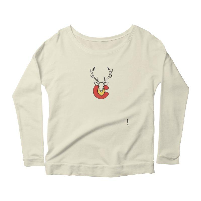 Deer Colorado Women's Scoop Neck Longsleeve T-Shirt by eleven