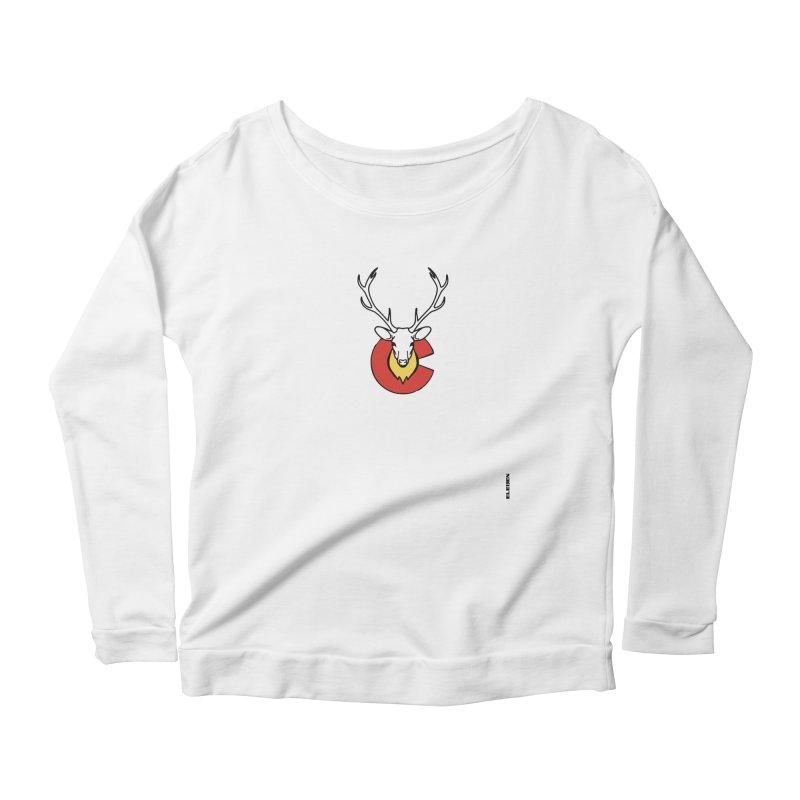 Deer Colorado Women's Longsleeve Scoopneck  by eleven