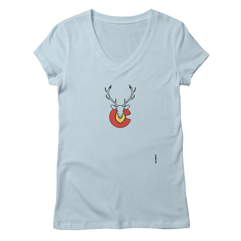 Deer Colorado Women's V-Neck by eleven