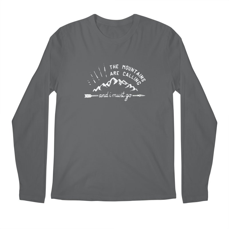 The Mountains are Calling Men's Regular Longsleeve T-Shirt by eleven