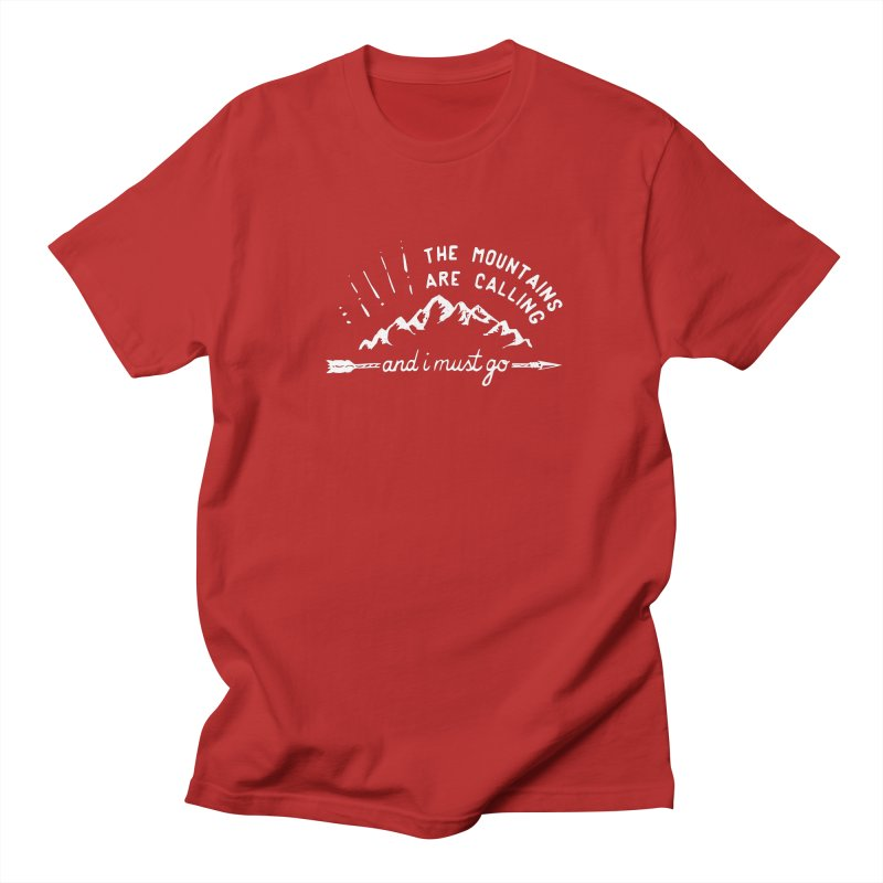 The Mountains are Calling Men's T-shirt by eleven