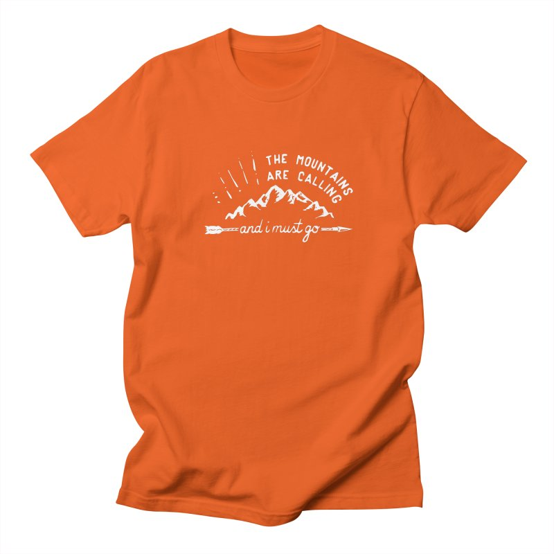 The Mountains are Calling Men's Regular T-Shirt by eleven