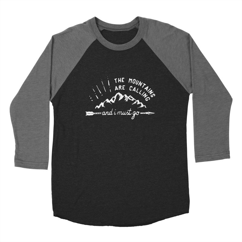 The Mountains are Calling Men's Baseball Triblend Longsleeve T-Shirt by eleven