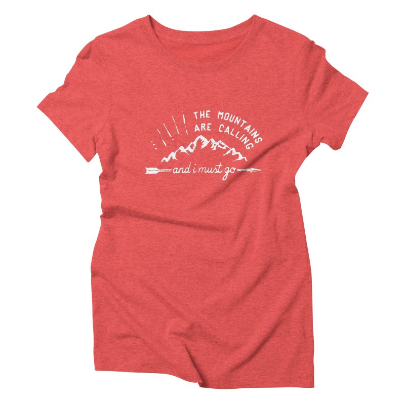 The Mountains are Calling Women's Triblend T-Shirt by eleven