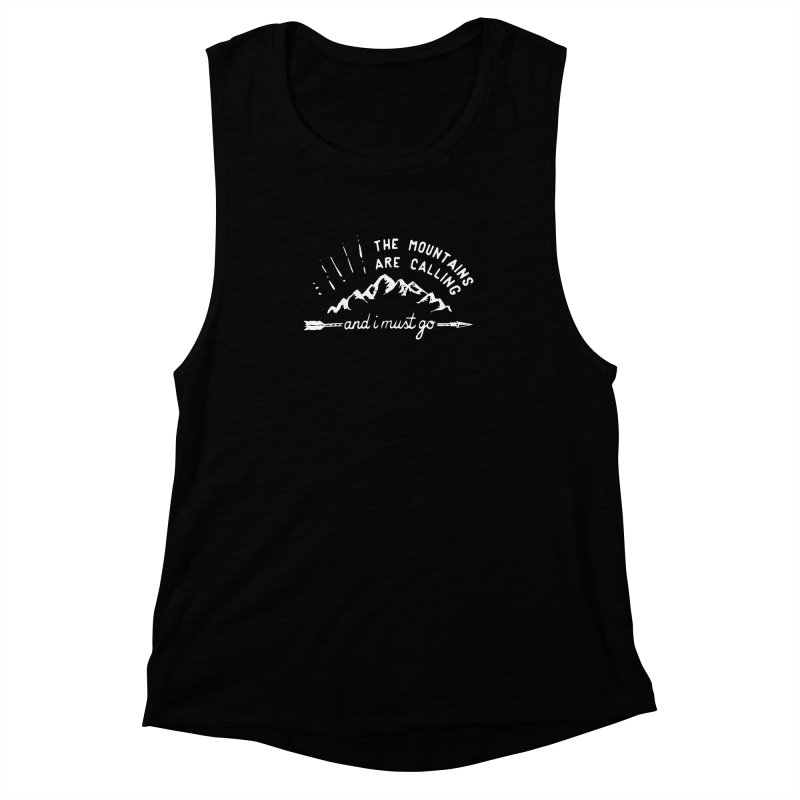 The Mountains are Calling Women's Muscle Tank by eleven