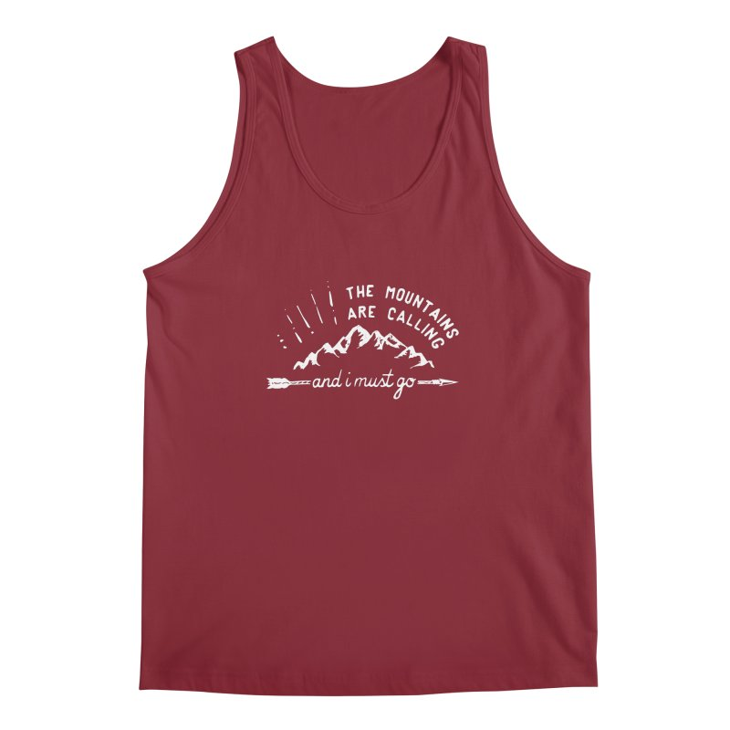 The Mountains are Calling Men's Regular Tank by eleven