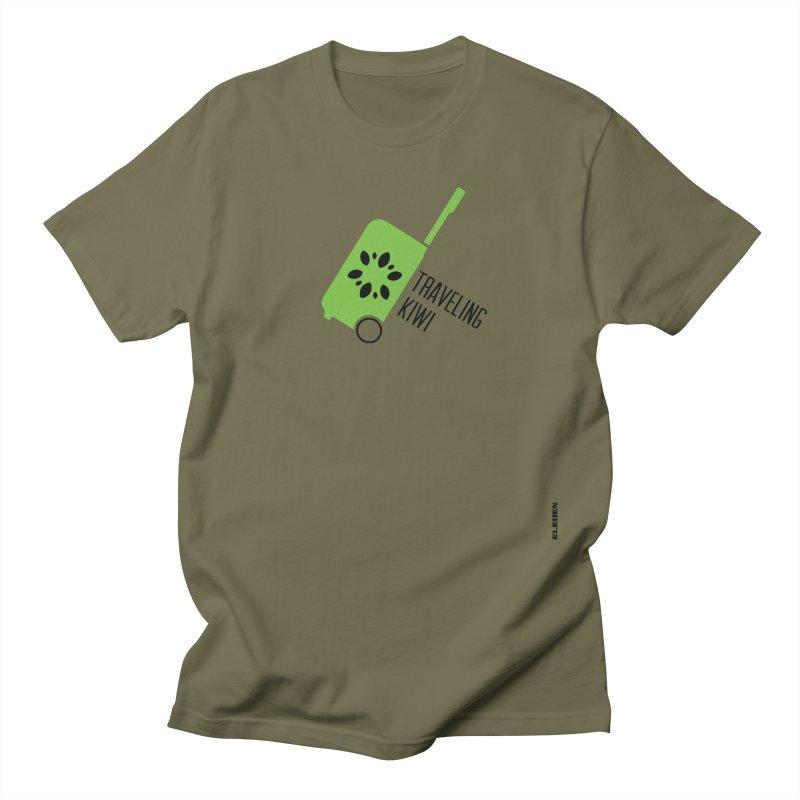 Traveling Kiwi Men's Regular T-Shirt by eleven
