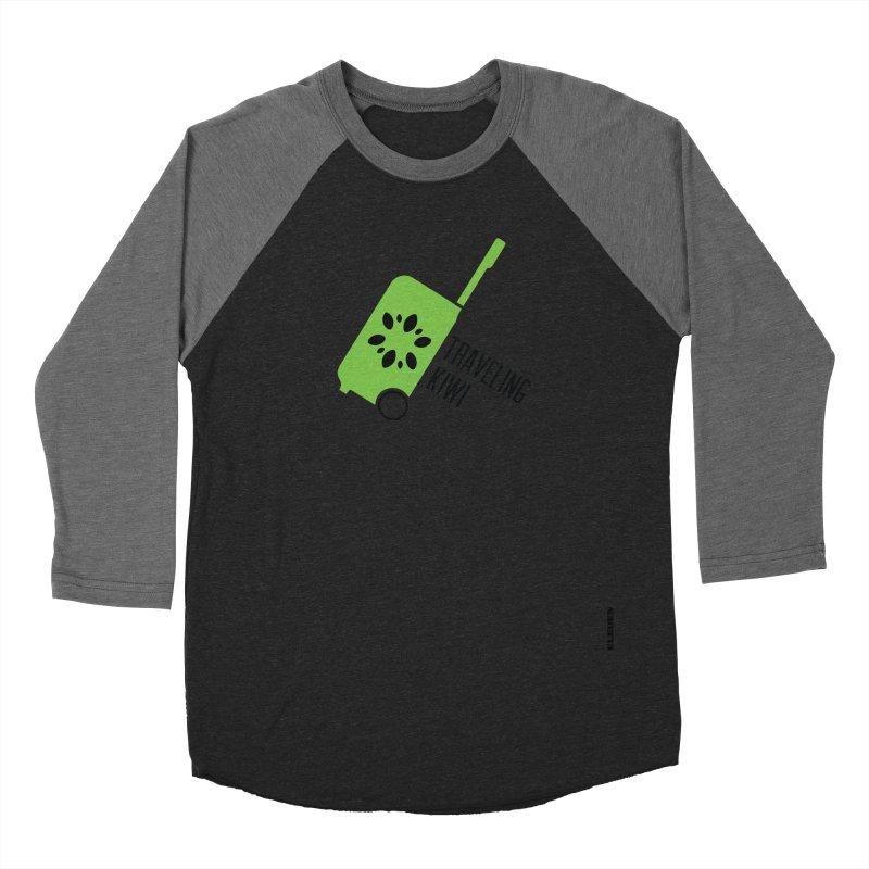 Traveling Kiwi Women's Baseball Triblend T-Shirt by eleven
