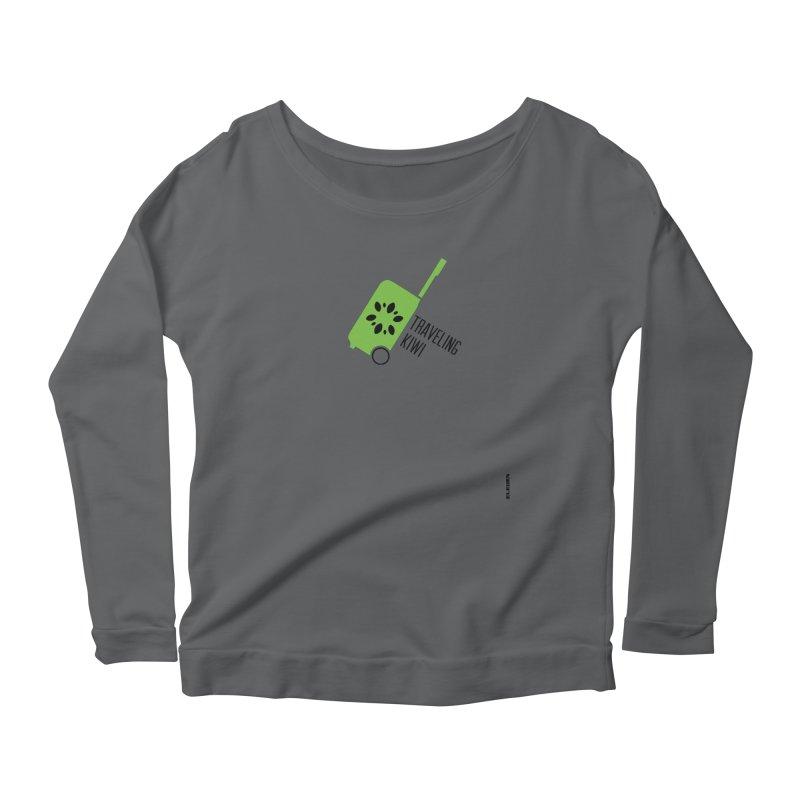 Traveling Kiwi Women's Scoop Neck Longsleeve T-Shirt by eleven