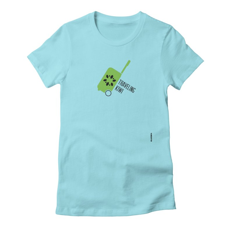 Traveling Kiwi Women's Fitted T-Shirt by eleven