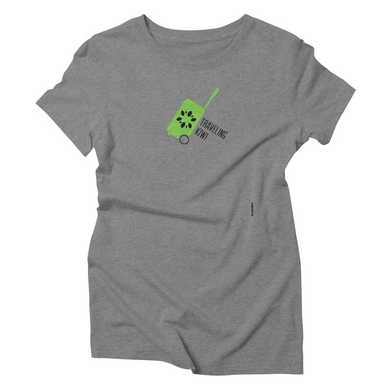 Traveling Kiwi Women's Triblend T-Shirt by eleven