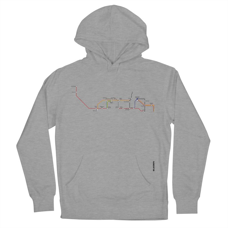 London Tube Women's French Terry Pullover Hoody by eleven