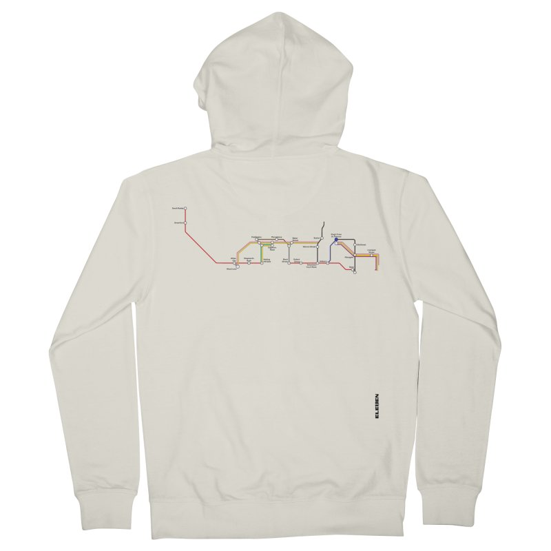 London Tube Men's French Terry Zip-Up Hoody by eleven