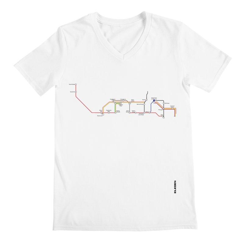 London Tube Men's V-Neck by eleven