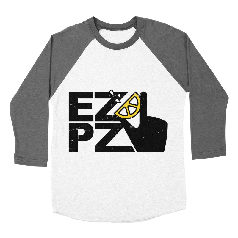EZPZ Men's Baseball Triblend Longsleeve T-Shirt by eleven