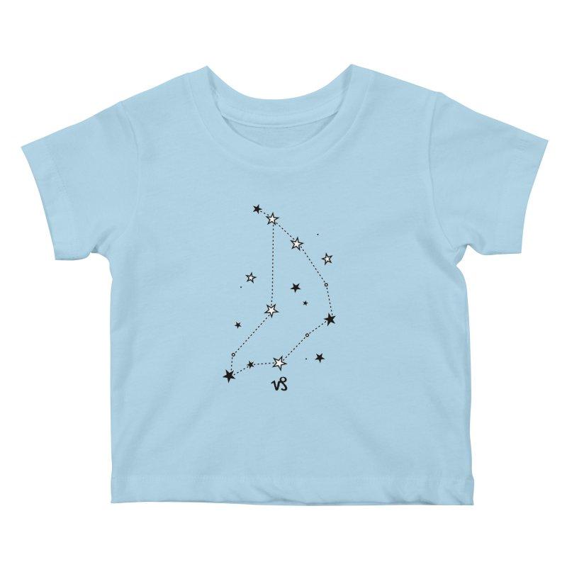 Capricorn Zodiac Sign Kids Baby T-Shirt by eleventy-five's Shop