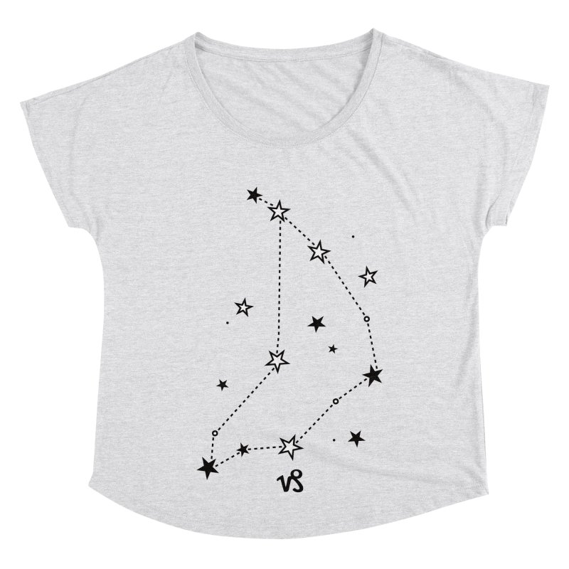 Capricorn Zodiac Sign Women's Dolman Scoop Neck by eleventy-five's Shop