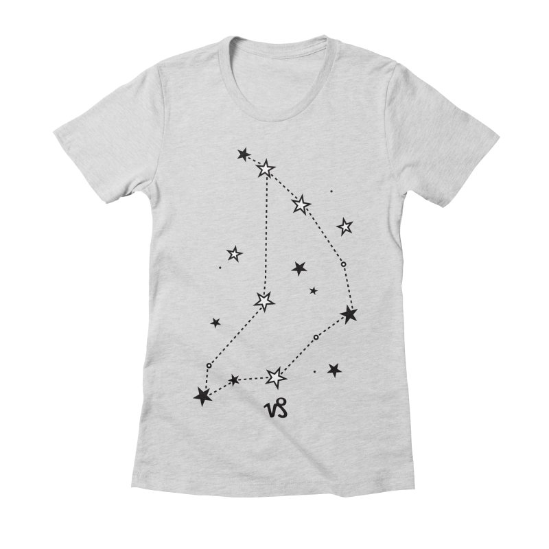 Capricorn Zodiac Sign Women's Fitted T-Shirt by eleventy-five's Shop