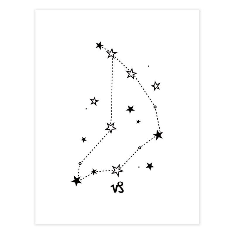 Capricorn Zodiac Sign Home Fine Art Print by eleventy-five's Shop