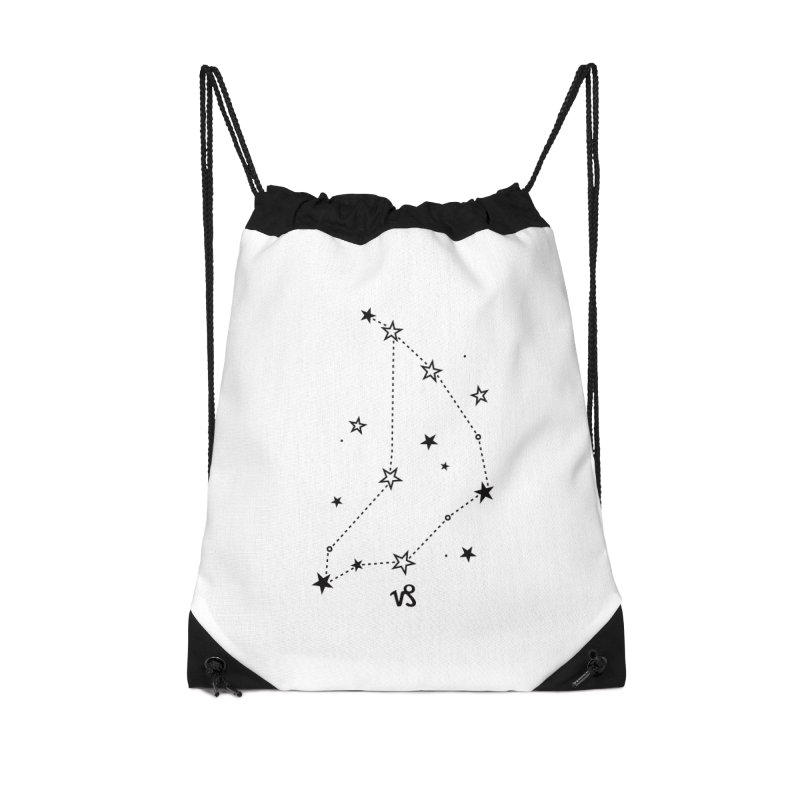 Capricorn Zodiac Sign Accessories Drawstring Bag Bag by eleventy-five's Shop