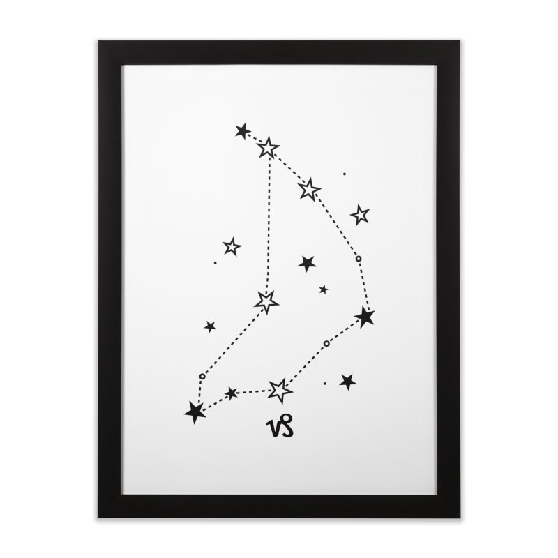 Capricorn Zodiac Sign Home Framed Fine Art Print by eleventy-five's Shop