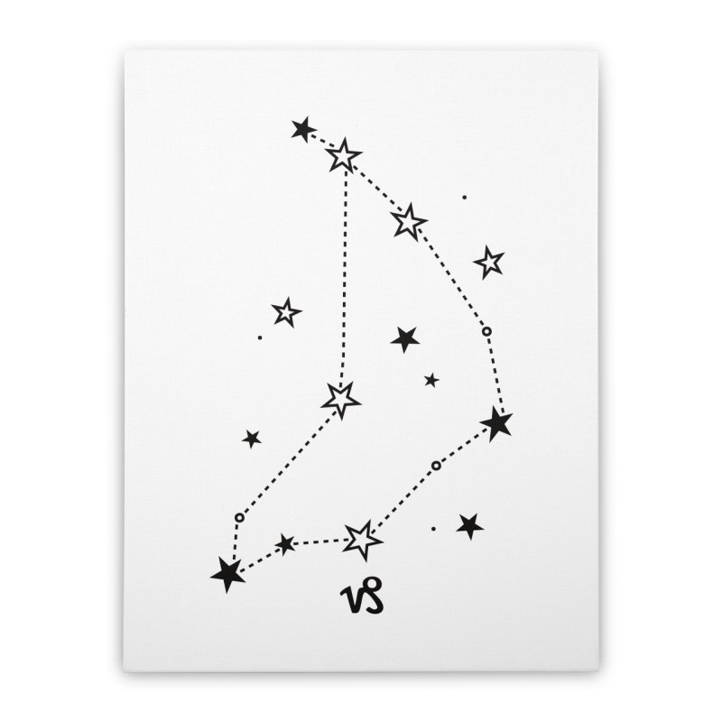 Capricorn Zodiac Sign Home Stretched Canvas by eleventy-five's Shop