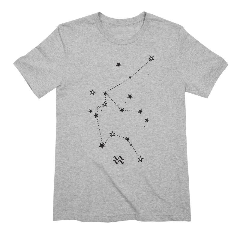Aquarius Zodiac Sign Men's Extra Soft T-Shirt by eleventy-five's Shop