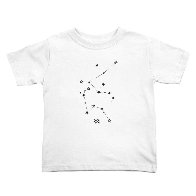 Aquarius Zodiac Sign Kids Toddler T-Shirt by eleventy-five's Shop