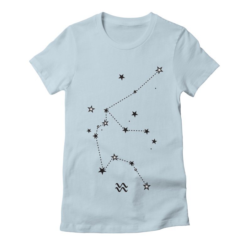 Aquarius Zodiac Sign Women's Fitted T-Shirt by eleventy-five's Shop