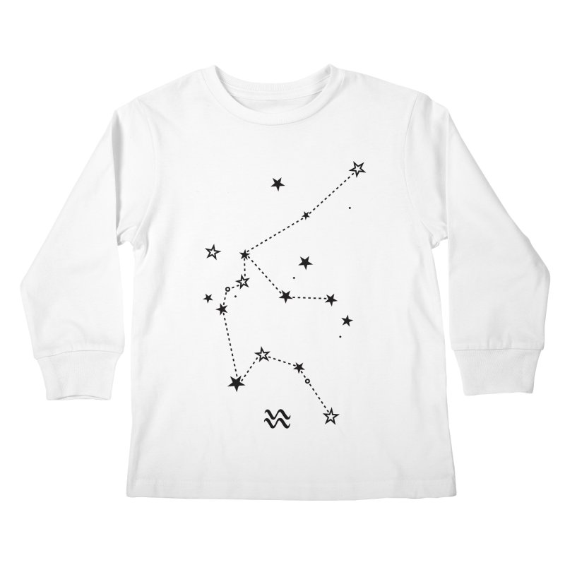 Aquarius Zodiac Sign Kids Longsleeve T-Shirt by eleventy-five's Shop