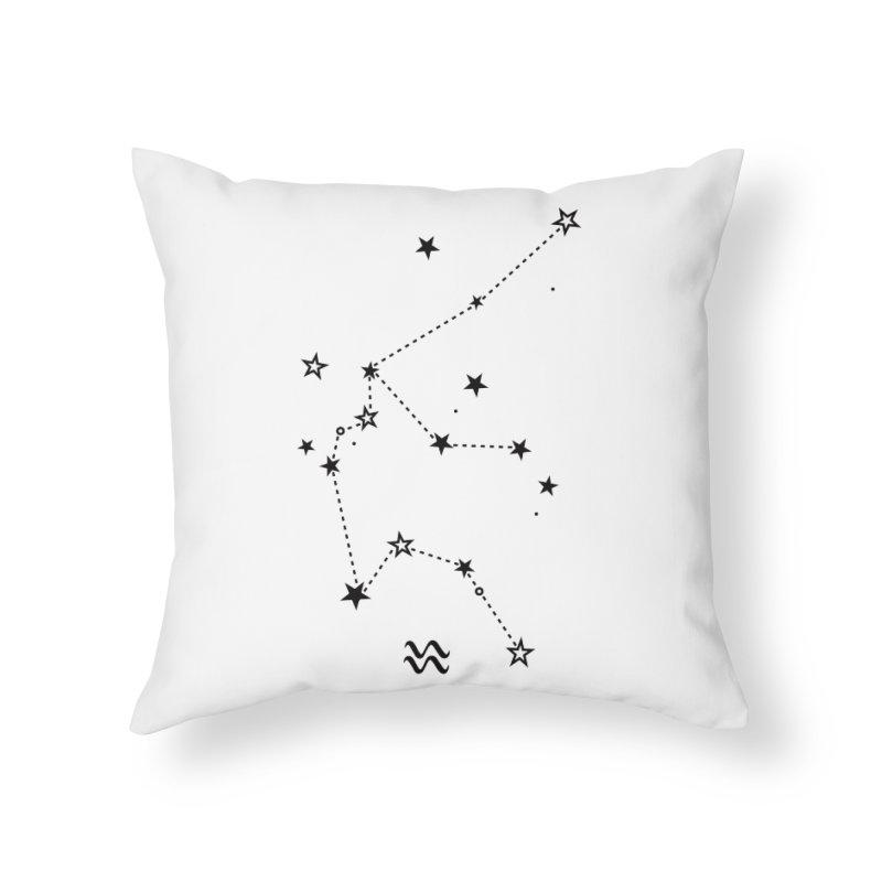 Aquarius Zodiac Sign Home Throw Pillow by eleventy-five's Shop