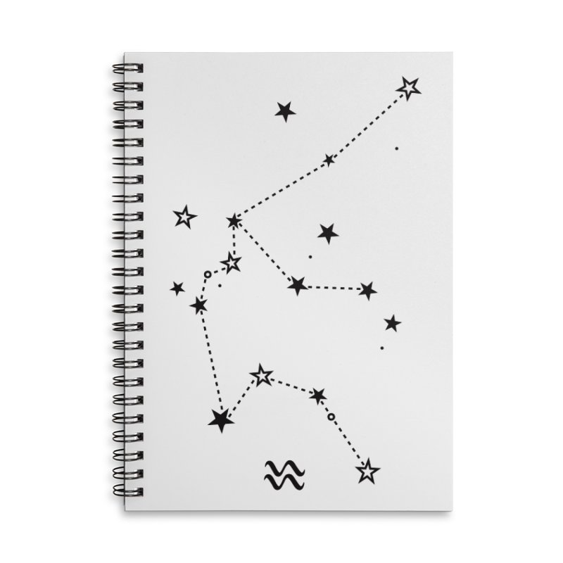 Aquarius Zodiac Sign Accessories Lined Spiral Notebook by eleventy-five's Shop