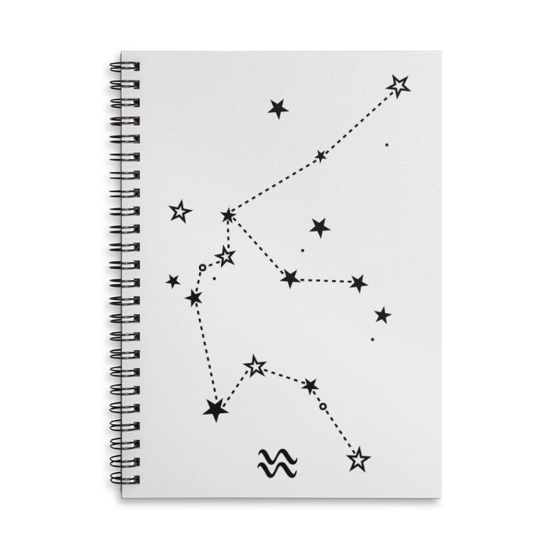 Aquarius Zodiac Sign Accessories Notebook by eleventy-five's Shop