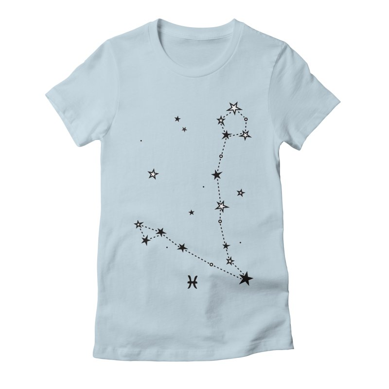 Pisces Zodiac Sign Women's Fitted T-Shirt by eleventy-five's Shop