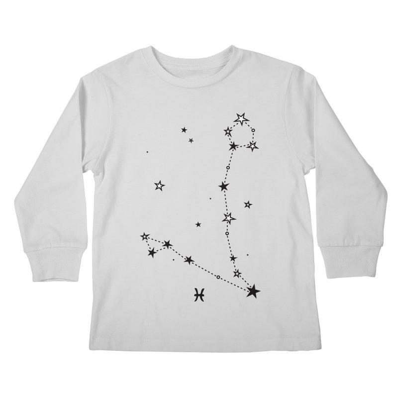 Pisces Zodiac Sign Kids Longsleeve T-Shirt by eleventy-five's Shop