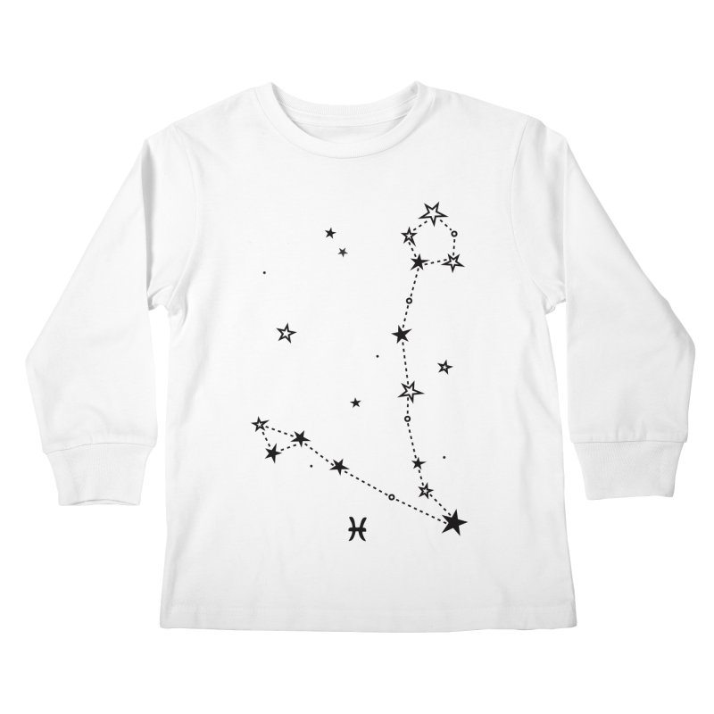 Pisces Zodiac Sign Kids Longsleeve T-Shirt by eleventy-five's Shop