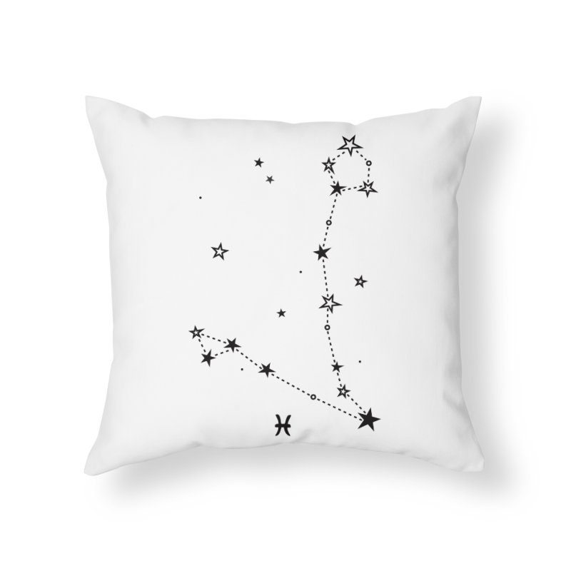 Pisces Zodiac Sign Home Throw Pillow by eleventy-five's Shop