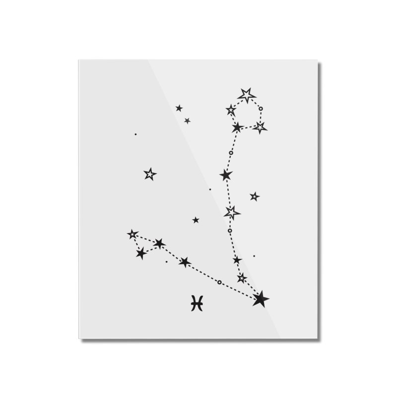 Pisces Zodiac Sign Home Mounted Acrylic Print by eleventy-five's Shop