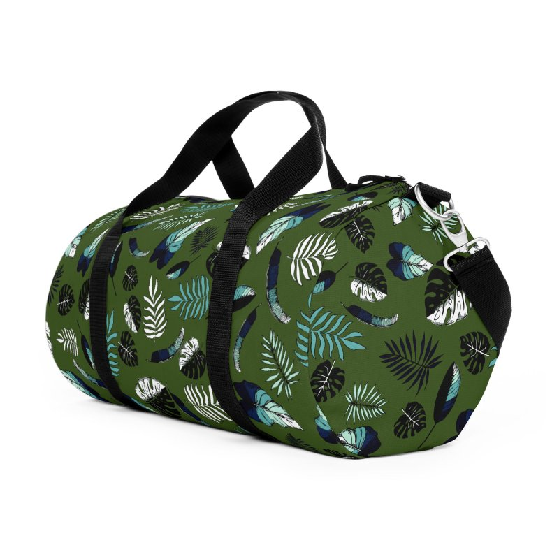 tropical leaves Accessories Duffel Bag Bag by eleventy-five's Shop