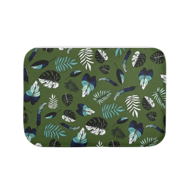 tropical leaves Home Bath Mat by eleventy-five's Shop