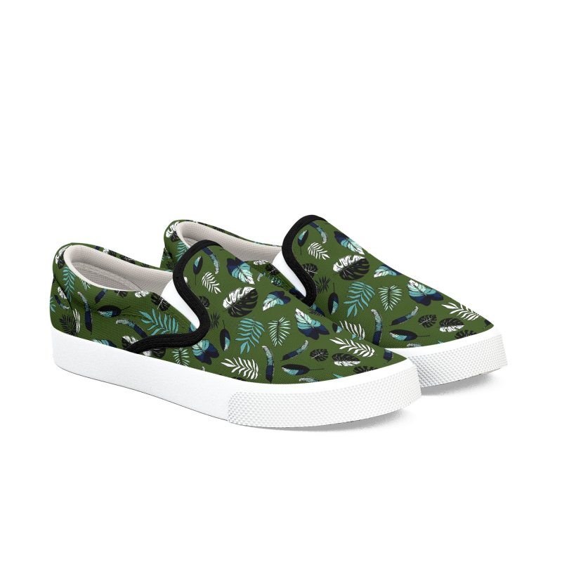 tropical leaves Women's Slip-On Shoes by eleventy-five's Shop