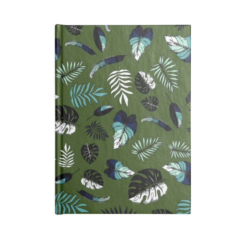 tropical leaves Accessories Lined Journal Notebook by eleventy-five's Shop