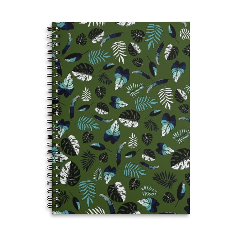tropical leaves Accessories Lined Spiral Notebook by eleventy-five's Shop