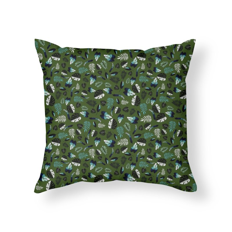 tropical leaves Home Throw Pillow by eleventy-five's Shop