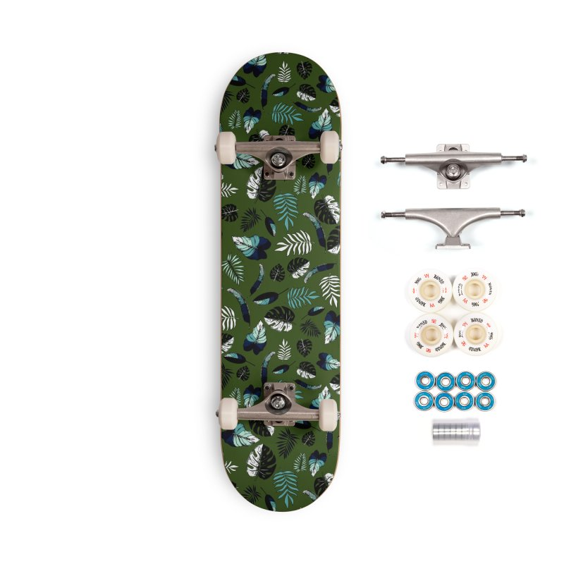 tropical leaves Accessories Complete - Premium Skateboard by eleventy-five's Shop