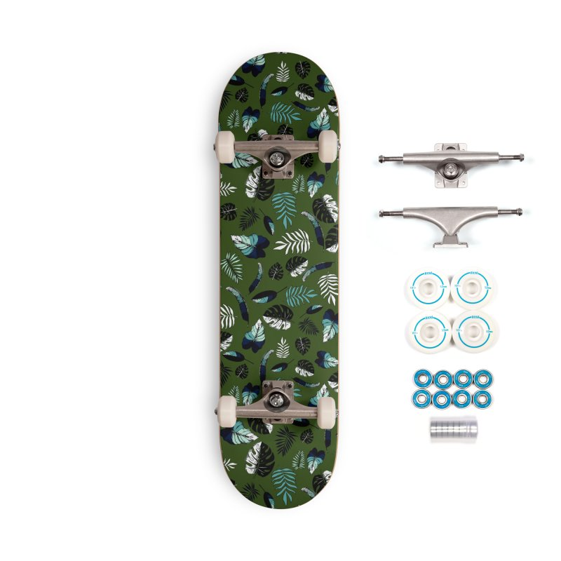 tropical leaves Accessories Complete - Basic Skateboard by eleventy-five's Shop