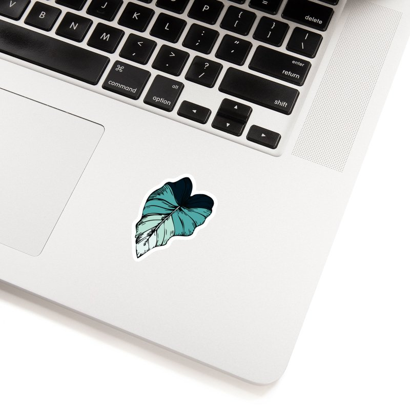 tropical leaves Accessories Sticker by eleventy-five's Shop